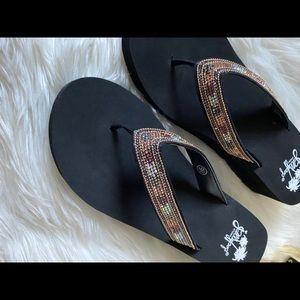 Jellypop SPARKLE 💎 Wedge Sandals 
